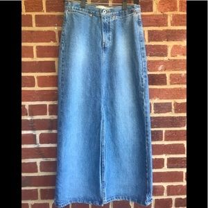 Gap Denim Jean Maxi Front Split sz 4 Skirt